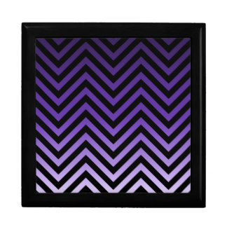 Deep to Light Purple Ombre Chevron Gift Box