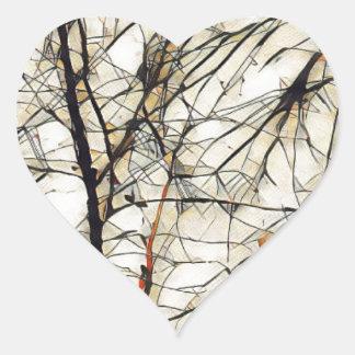 Deep Tree Heart Sticker