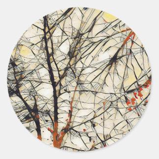 Deep Tree Round Sticker