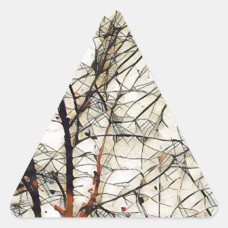 Deep Tree Triangle Sticker