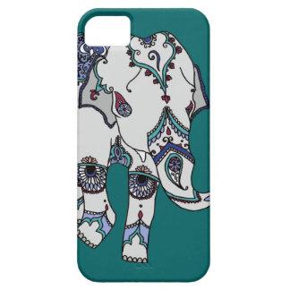 Deep Turquoise Embellished Elephant Phone Case
