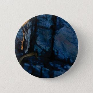 deep vertical cracks in rock 2 inch round button
