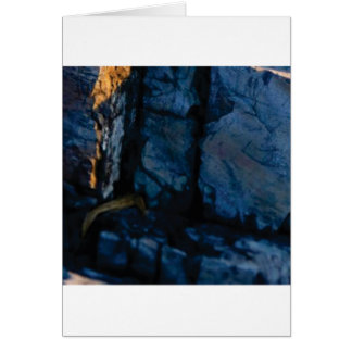 deep vertical cracks in rock card