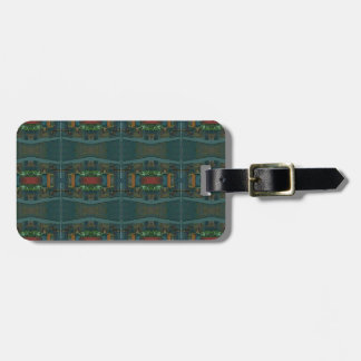 Deep Warm Masculine Pattern Bag Tag