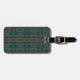 Deep Warm Masculine Pattern Luggage Tag