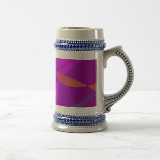 Deep Wine Red Abstract Design Mugs