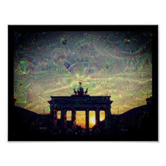 DeepDream Berlin, Brandenburg Gate 3.3.F Poster