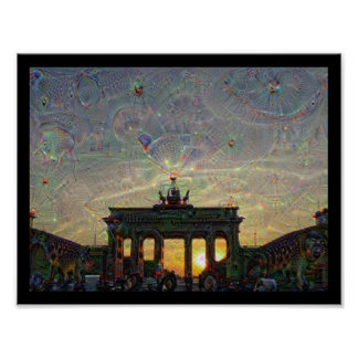 DeepDream Berlin, Brandenburg Gate Poster