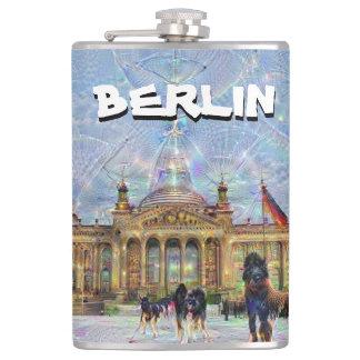 DeepDream Cities, Reichstag building 002.T, Berlin Hip Flask