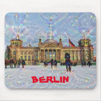 DeepDream Cities, Reichstag building, Berlin Mouse Pad