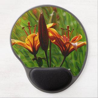DeepDream Flowers, Orange Lilly, Iris Gel Mouse Pad