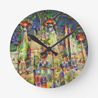 DeepDream Pictures, Cathedral Wall Clock