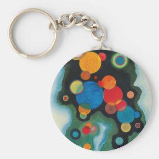 Deepened Impulse Abstract Oil on Canvas Kandinsky Keychain