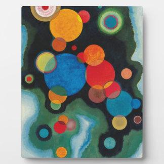 Deepened Impulse Abstract Oil on Canvas Kandinsky Plaque
