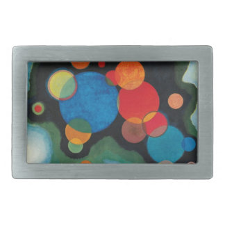 Deepened Impulse Abstract Oil on Canvas Kandinsky Rectangular Belt Buckle