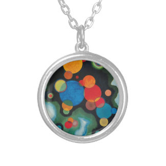 Deepened Impulse Abstract Oil on Canvas Kandinsky Silver Plated Necklace