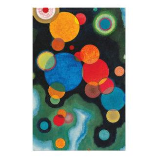 Deepened Impulse Abstract Oil on Canvas Kandinsky Stationery