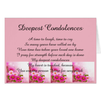 Deepest Condolences Card