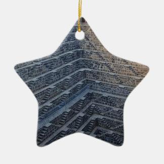 Deepest Stairwall Ceramic Star Ornament