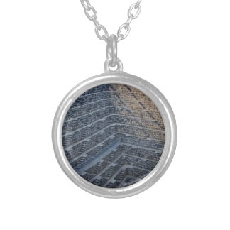 Deepest Stairwall Silver Plated Necklace