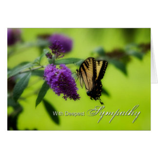 Deepest Sympathy Butterfly Greeting Card