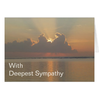 Deepest Sympathy Card for Condolences