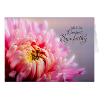 Deepest Sympathy Chrysanthemum Blank Photo Note Card