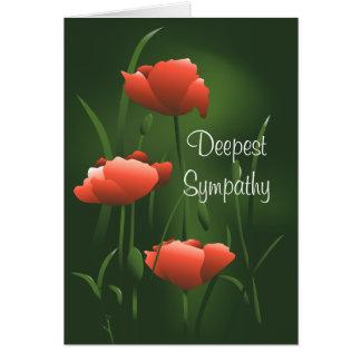 Deepest Sympathy Eternal Poppy Greeting Card