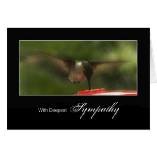 Deepest Sympathy - Hummingbird in Flight Greeting Card