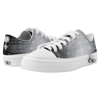 Deeply Rooted Abstract Greys Low-Top Sneakers