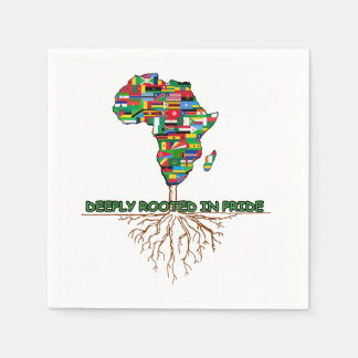 Deeply Rooted BHM Party Paper Napkins