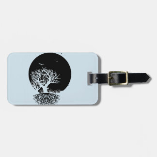 Deeply Rooted Moon Luggage Tag