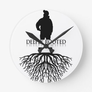 Deeply Rooted Round Clock