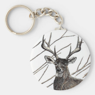 "Deer 2.25"" Basic Button Keychain"