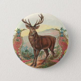 Deer 2 Inch Round Button