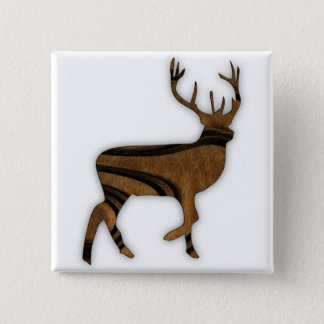 Deer 2 Inch Square Button