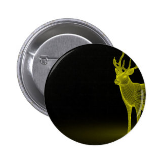 Deer abstract 2 inch round button