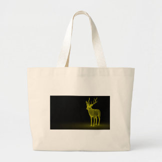 Deer abstract large tote bag
