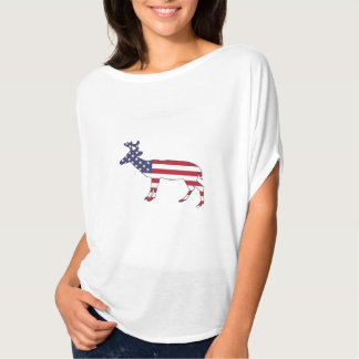 "Deer ""American Flag"" T-Shirt"