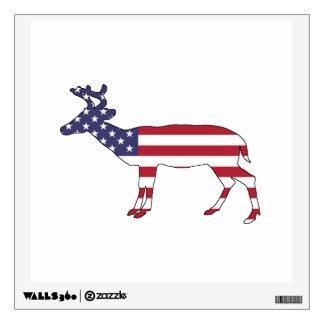 "Deer ""American Flag"" Wall Sticker"