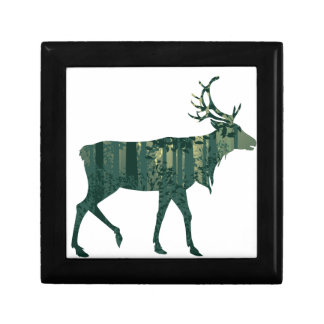 Deer and Abstract Forest Landscape 2 Gift Box