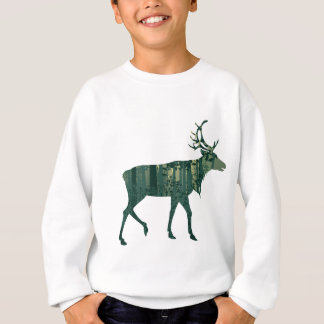 Deer and Abstract Forest Landscape 2 Sweatshirt