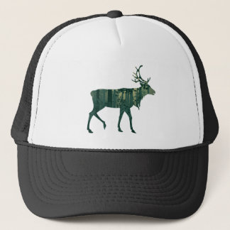 Deer and Abstract Forest Landscape 2 Trucker Hat