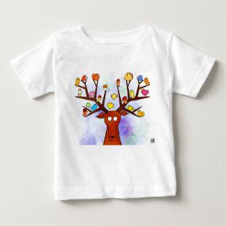 Deer and birds baby T-Shirt