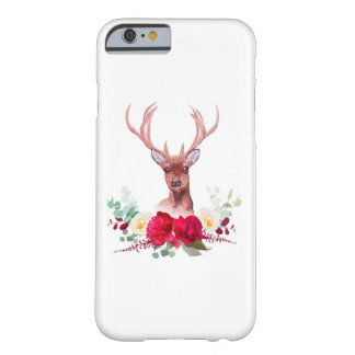 Deer and elegant autumn horizontal floral bouquet barely there iPhone 6 case