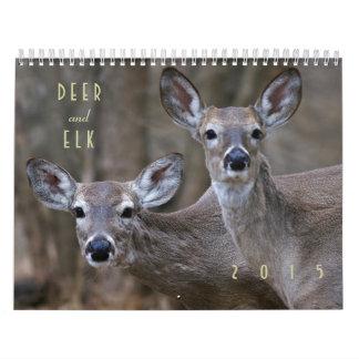 Deer and Elk 2015 Wall Calendar - Wildlife