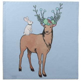 Deer and Rabbit Cloth Napkins