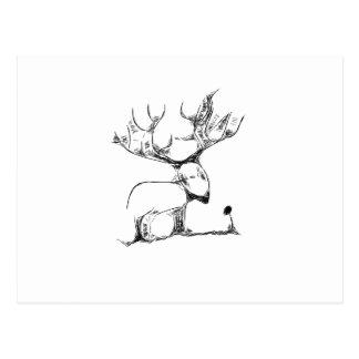 Deer and Rose Post Card