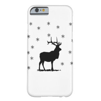 Deer and snowflakes barely there iPhone 6 case