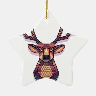deer animal with horns ceramic ornament